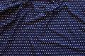 Støvet marineblå viscosejersey med små hvide prikker
