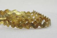 Guld zig-zag bånd 5 mm bred