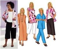 Nederdel, tunika, kjole, bukser. Butterick 3039.