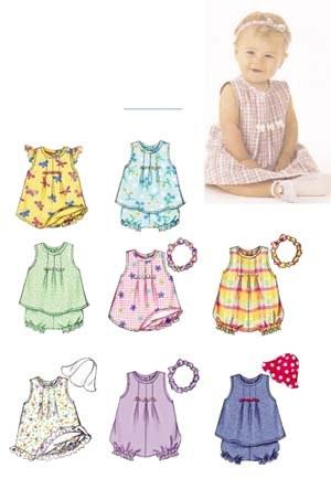 Kjole, top, dragt, trusser, hat og pandebånd
