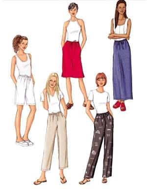 Nederdel, short og bukser