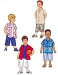 Butterick 3475. Skjorter og shorts til børn.