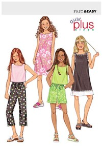 Top, kjole, shorts og bukser. Butterick 3860.