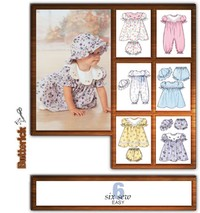 Kjole, Panties, Jumpsuit And Hat. Butterick 4110.