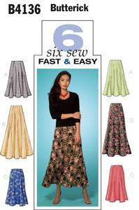 Skirt. Butterick 4136.
