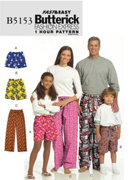 Shorts And Bukser. Butterick 5153.