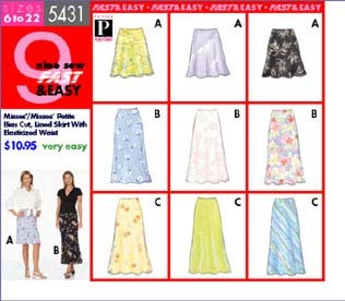 Lined Skirt W/elasticized Waist