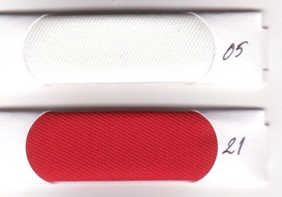 Bævernylon, imprægneret, vandafvisende i rød og hvid