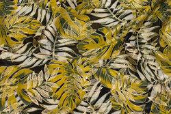 Chiffon med blade i messing og guld