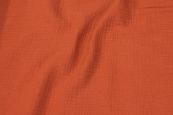 Dobbelvævet bomuld (gauze) i marsala-farvet