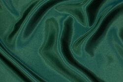 Polyester satin i flaskegrøn