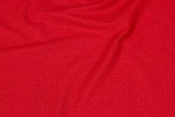 Rød, fast bomuld med lysere mikroprik