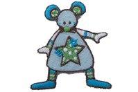 Sjov blå mus ca 5x5cm