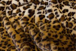 Superblød, imiteret leopard plys