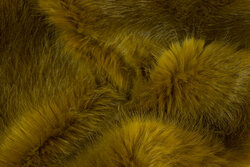 Superblød, imiteret pels i lys oliven