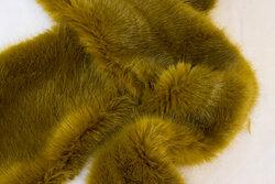 Superblød, imiteret pelsstykke ca. 20 x 180 cm