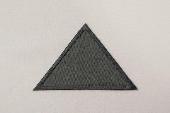 Trekant grå twill 8x11cm