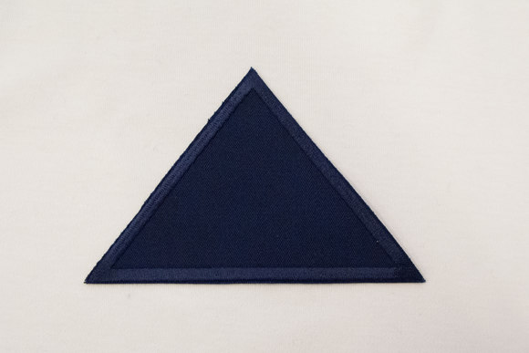 Trekant marineblå twill 8x11cm