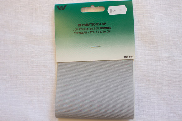 Twillstrygelap, lysere grå 10x40cm